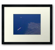 45000 feet up in the Sky. Framed Print