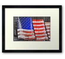 My Freedom Say's Thank you Framed Print