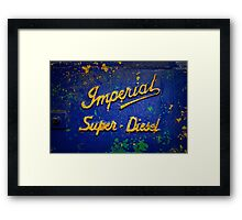 Imperial Super Diesel Framed Print