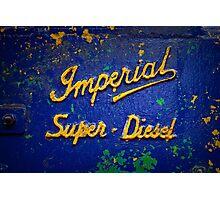 Imperial Super Diesel Photographic Print