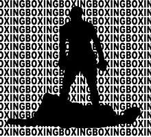 Muhammad Ali vs Sonny Liston Iconic Silhouette Pose Black by yin888