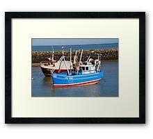 Folkestone harbour, England Framed Print