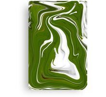 Natural Green Abstract Canvas Print