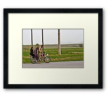 Along the Road to Tehran - Iran Framed Print