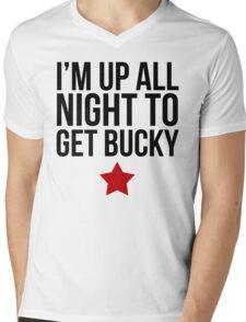 Up All Night To Get Bucky Mens V-Neck T-Shirt