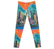 Seattle Skyline by David Johansson Leggings