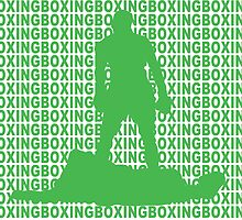 Muhammad Ali vs Sonny Liston Iconic Silhouette Pose Green  by yin888