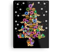 ugly christmas sweater - christmas tree with food Metal Print