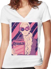 Luna Lovegood Women's Fitted V-Neck T-Shirt