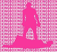 Muhammad Ali vs Sonny Liston Iconic Silhouette Pose Pink by yin888