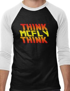 Think, McFly, Think  Men's Baseball ¾ T-Shirt