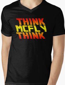 Think, McFly, Think  Mens V-Neck T-Shirt