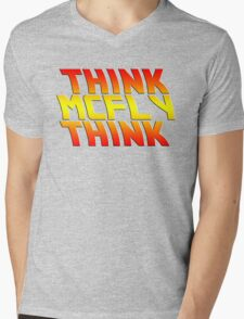 Think, McFly, Think  Mens V-Neck T-Shirt