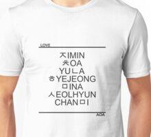 AOA Hangeul - Black Unisex T-Shirt