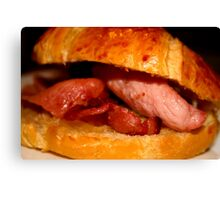 bacon in crossaint Canvas Print