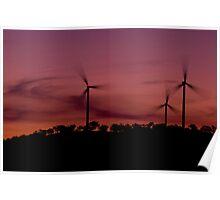 Wind Farm Sunset #1 Poster