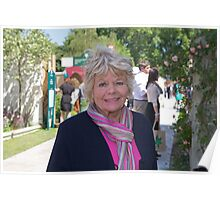 Judith Chalmers at the Chelsea Flower Show Poster
