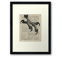 Eagle Talon Claws on Dictionary page Framed Print