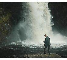 Angler at Ingleton  Photographic Print