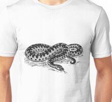 Adder Snake Illustration Unisex T-Shirt