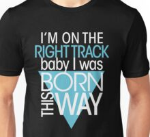 GAGA - BORN THIS WAY (LIGHT BLUE - CLEAR) Unisex T-Shirt