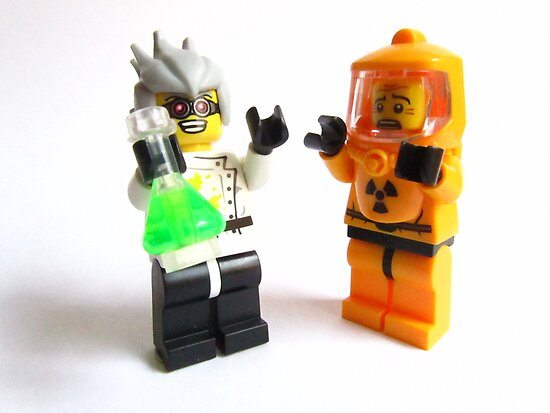 Mad Scientist and Hazmat  by HRLambert