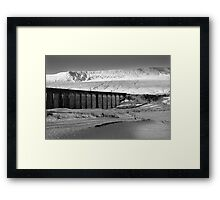 Ribblehead in White - Whernside & Viaduct in the snow Framed Print