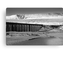 Ribblehead in White - Whernside & Viaduct in the snow Canvas Print