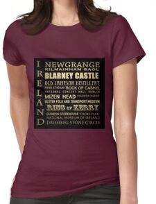 Ireland Famous Landmarks Womens Fitted T-Shirt