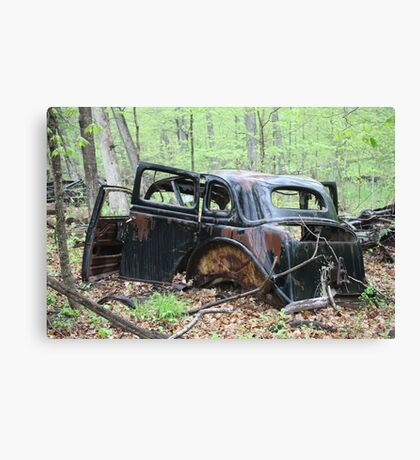 January Motor Car Canvas Print