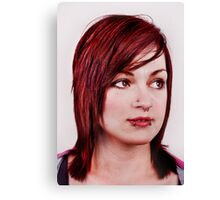 Red head girl Canvas Print