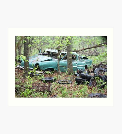 April Old Motor Car Art Print