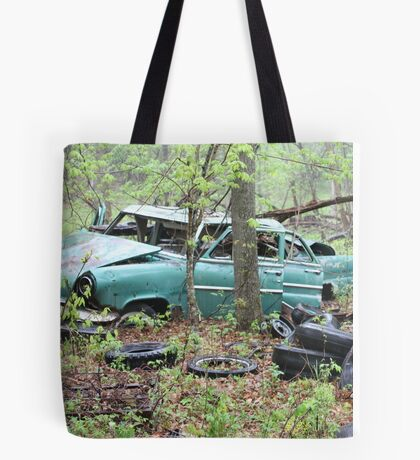 April Old Motor Car Tote Bag
