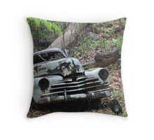 May Old Motor Car Throw Pillow