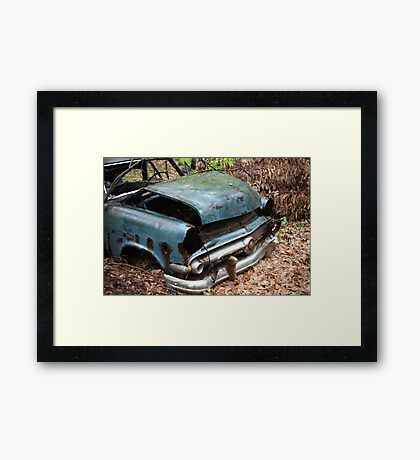 June Old Motor Car Framed Print