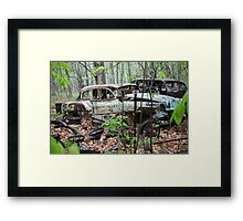 October Old Motor Car Framed Print
