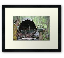 November Old Motor Car Framed Print