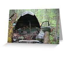 November Old Motor Car Greeting Card