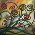 Swirling Red by Sherry Arthur