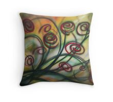 Swirling Red Throw Pillow