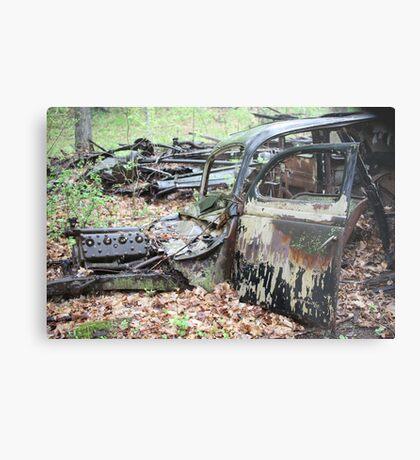 December Old Motor Car Metal Print