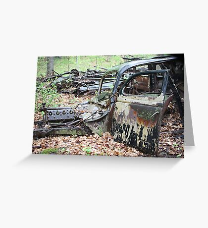 December Old Motor Car Greeting Card
