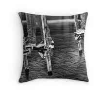 Dancing On Stilts Throw Pillow