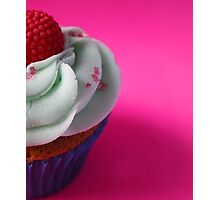 Cupcake - Raspberry Flavour, Blue frosting Photographic Print