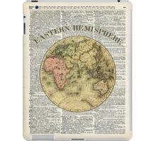 Eastern Hemisphere Earth Vintage  Map Dictionary Art iPad Case/Skin