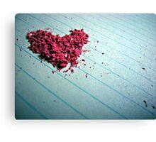 """Blow me away"" - Heart shaped eraser shavings  Canvas Print"