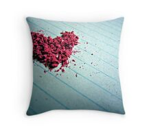 """Blow me away"" - Heart shaped eraser shavings  Throw Pillow"