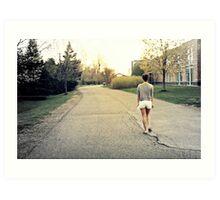 """Run"" - Pearly Rideau Ottawa Art Print"
