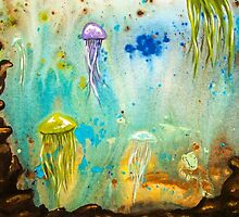 Jellyfish March to The Surface by BrandiBruggman