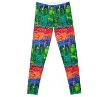 Seattle Emerald City With Spectacular Sunset Leggings
